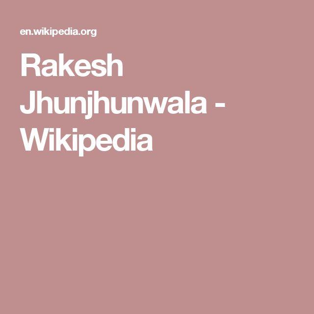 Rakesh Jhunjhunwala - Wikipedia