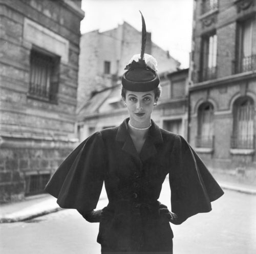1949, Paris. Model Maxime de la Falaise. Photo by Gordon Parks (B1912-D2006)