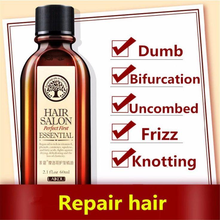 New Brand Multi-functional 60ml Hair Care Moroccan Pure Argan Essential Oils Hair Conditioner Dry Hair Repair