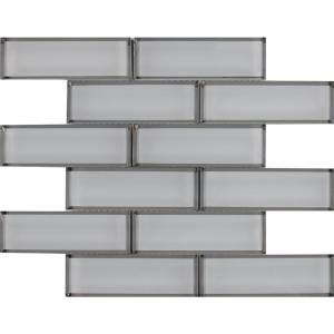 MS International Ice Bevel Subway 11.73 in. x 11.73 in. x 8 mm Glass Mesh-Mounted Mosaic Tile (9.6 sq. ft. / case)-GLSST-ICEBE8MM - The Home Depot