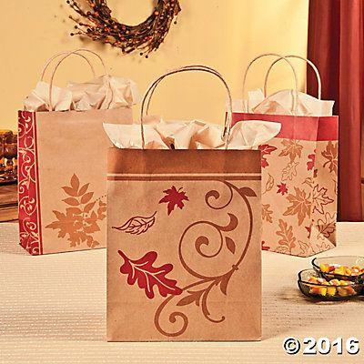 fall baby shower favors ideas fall kraft paper bags