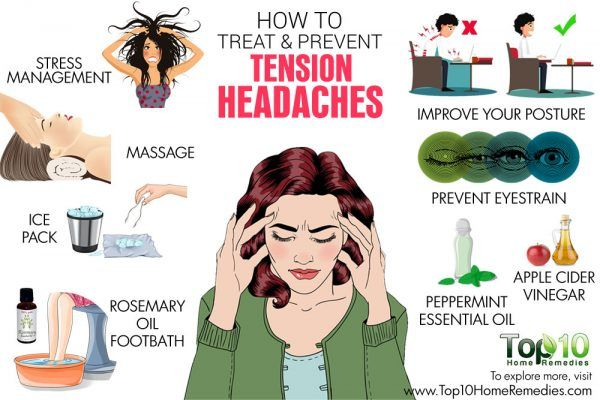 How to Treat and Prevent Tension Headaches | Top 10 Home Remedies