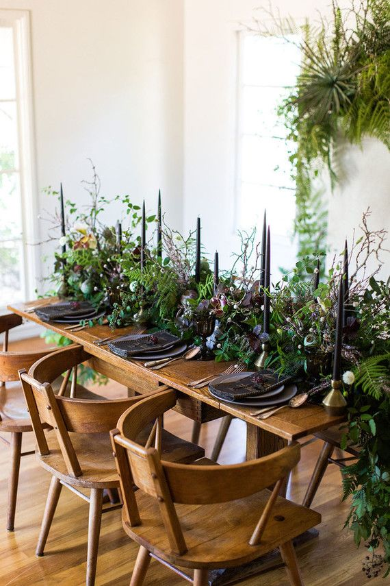We're enamored with the concept behind this wild, floral inspired shoot Lynn Bagley documented, and are pretty sure you will be too (just look at this table!): It was inspired by a summer bride that w