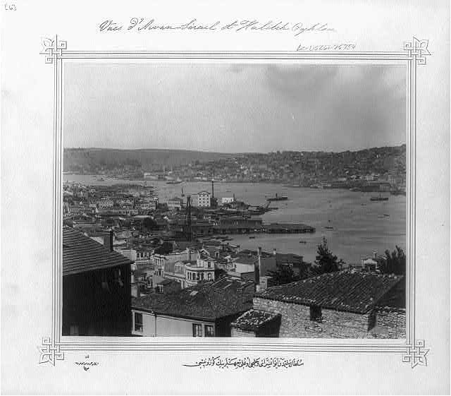 [View of Halıcıoğlu and Ayvansaray seen from the Sultan Selim]