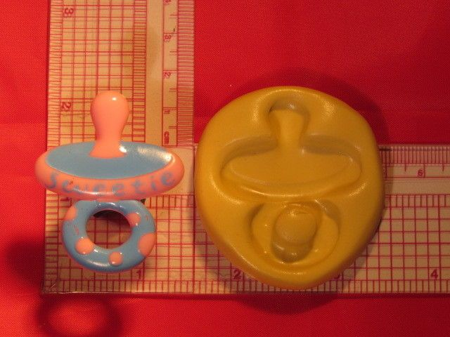 Pacifier binky baby Flexible Silicone Push Mold for chocolate fondant clay A805 #Unbranded