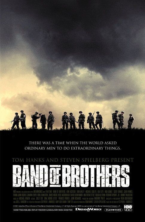 """Band of Brothers (TV Mini-Series) ~ """"The story of Easy Company of the US Army 101st Airborne division and their mission in WWII Europe from Operation Overlord through V-J Day."""""""