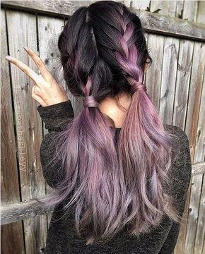 20 Ideas púrpura Ombre Color del pelo //  #color #Ideas #Ombre #pelo #púrpura