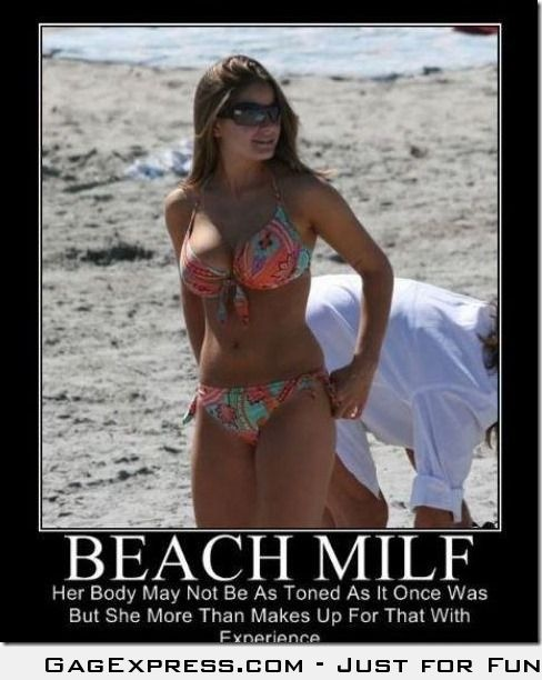 What A Beach MILF Brings To The Table Funny Image