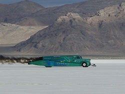 Bonneville Speedwayis an area of the Bonneville Salt Flats near Wendover, Utah,