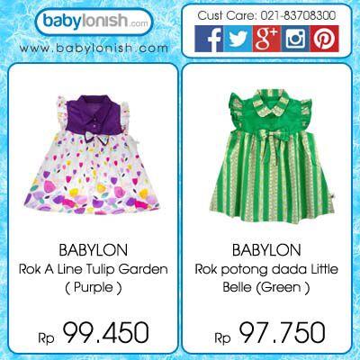 Dress Babylon dengan warna cerah, cocok untuk digunakan pada siang hari. Bahannya nyaman dan tidak membuat gerah.  Hanya di www.babylonish.com  Baby girls clothes dress anak perempuan cewek baju pakaian toddler