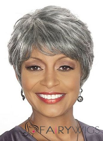 best grey hair styles faddish gray american wigs for 5346 | e8f2fe28b9d0ba32b5506a361d3374f2 short wigs africans