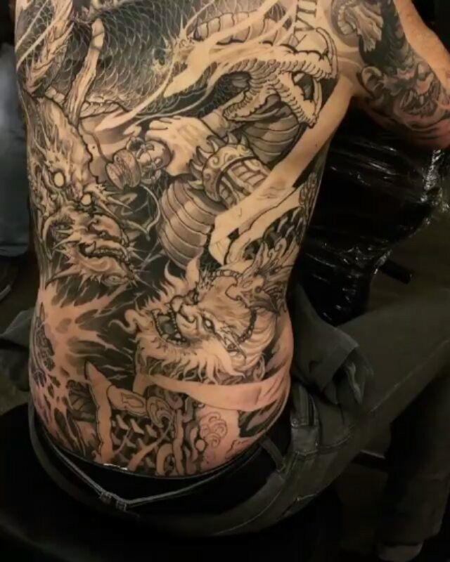 David Hoang On Instagram Back To Back Tiger Tattoo: 329 Best Dragon Images On Pinterest