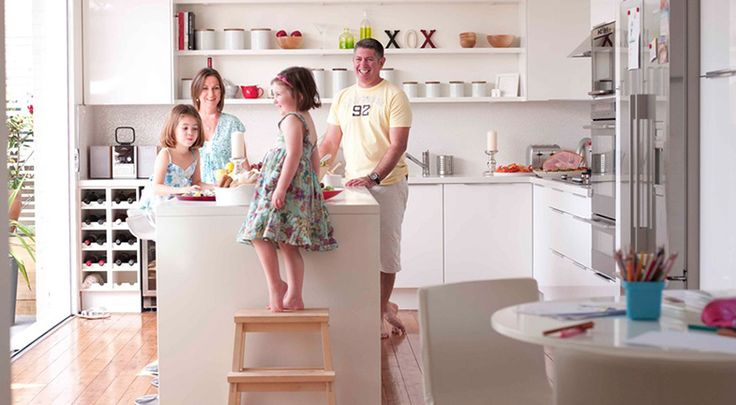 "Add a ""helping stool"" so kids have their own area in the kitchen to help you cook."