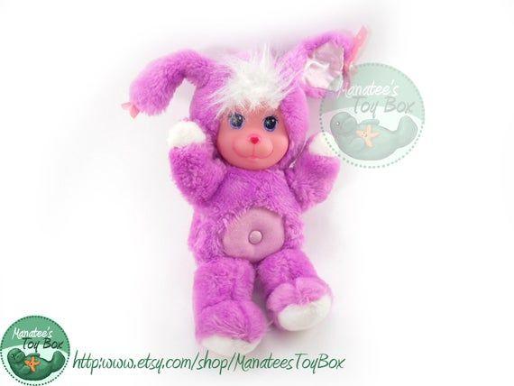 Magic Nursery Purple Bunny Plush Rare 1990s Toy Etsy Pelucia