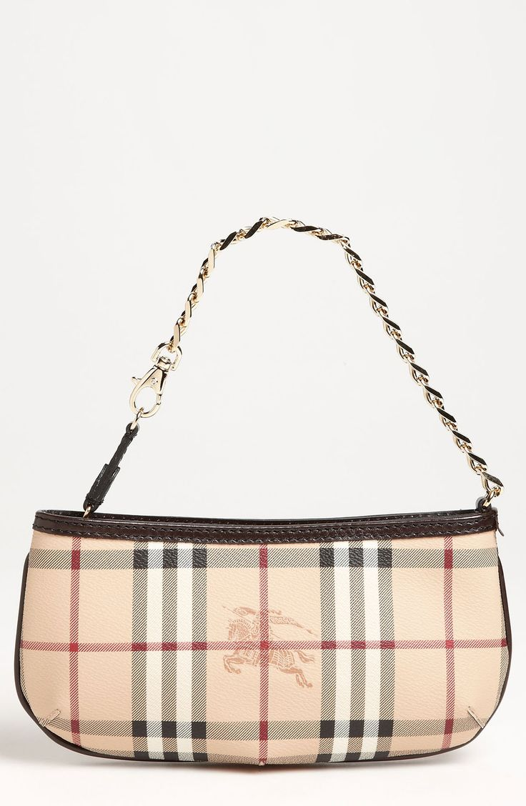 Free shipping and returns on Burberry 'Haymarket Check' Mini Shoulder Bag at Nordstrom.com. A shadowy logo stamp centers the front of a diminutive check-patterned shoulder bag. A delicate chain strap works over the shoulder or clipped to one side for an elegant wristlet.