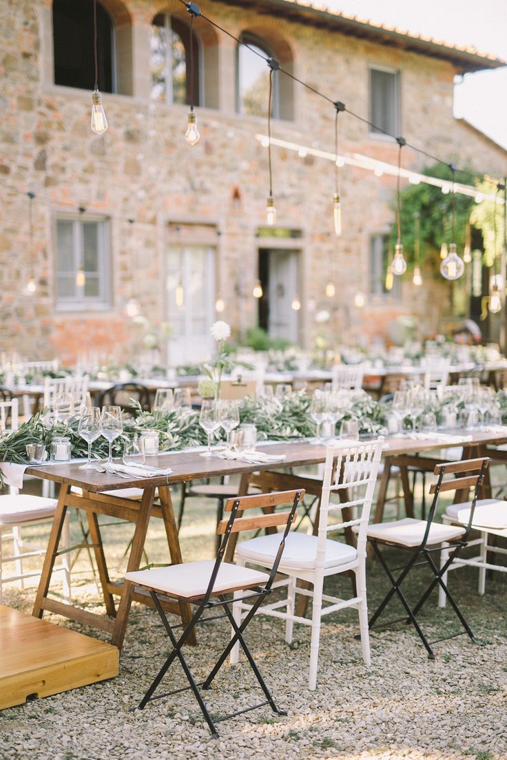 romantic rustic wedding reception - photo by Nastja Kovacec http://ruffledblog.com/a-tuscan-dream-wedding-come-true