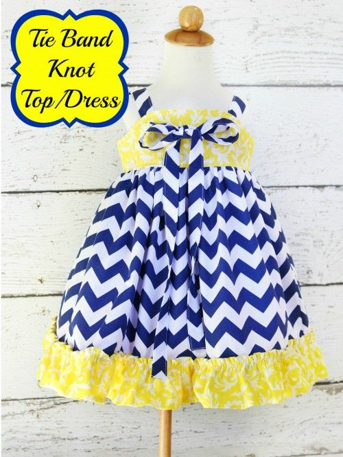 tie band knot dress sewing pattern whimsy couture