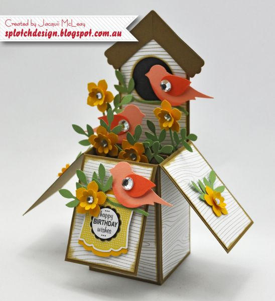 Bird House Card in a Box