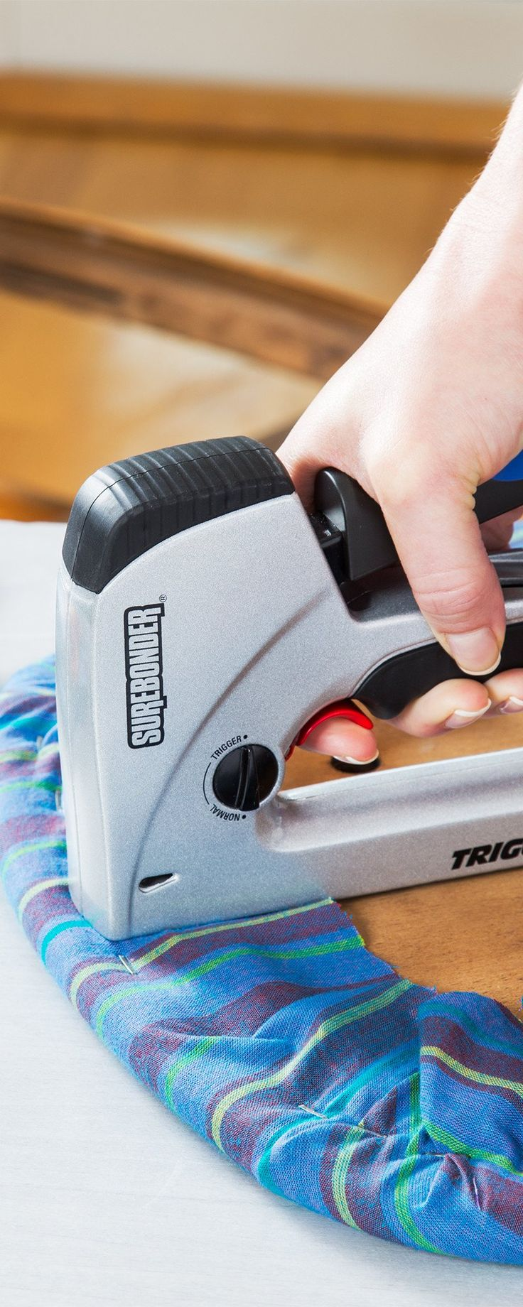 TriggerFire: Kickback-Free Staple Gun - It only takes one hand to operate the TriggerFire staple gun. Access hard-to-reach areas with minimal effort and no kickback.