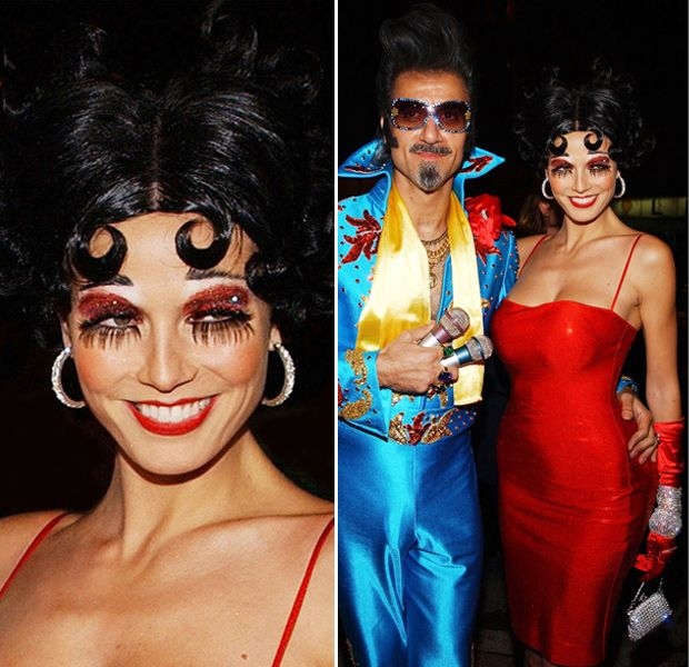 Heidi Klum (with first husband Ric Pipino) as Betty Boop ...