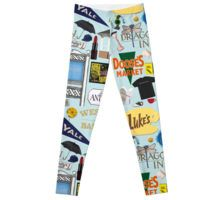 Gilmore Girl Leggings So many favorites from Gilmore Girls! How many do you recognize? Luke's Diner, The Dragonfly, Stars Hollow Gazebo… Do you remember the pink fuzzy hammer? Or the book that Jess wrote? Take a shot from the fun flask!
