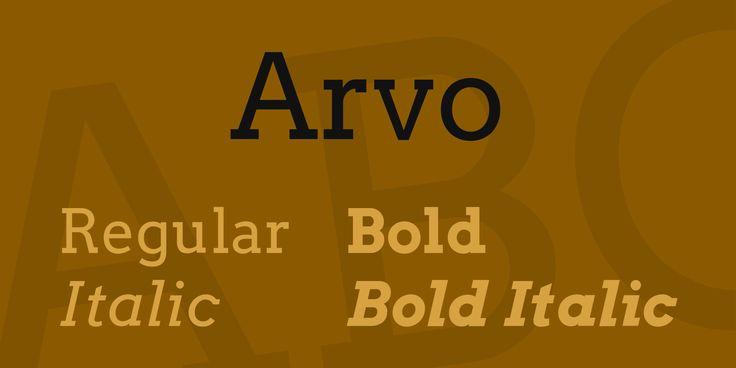 Arvo Font Family · 1001 Fonts