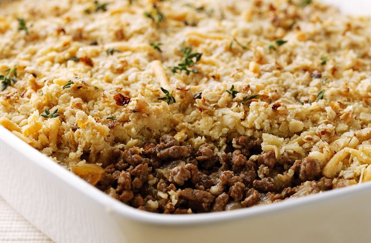 A simple Savoury mince crumble recipe for you to cook a great meal for family or friends. Buy the ingredients for our Savoury mince crumble recipe from Tesco today.
