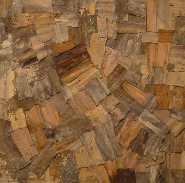 """Paperbark II, 2007"" (Corrugated iron) artwork by Ingo Kleinert"