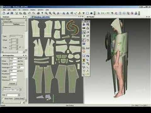 Opti Tex fashion design software - 3D cloth simulation Model and style creation