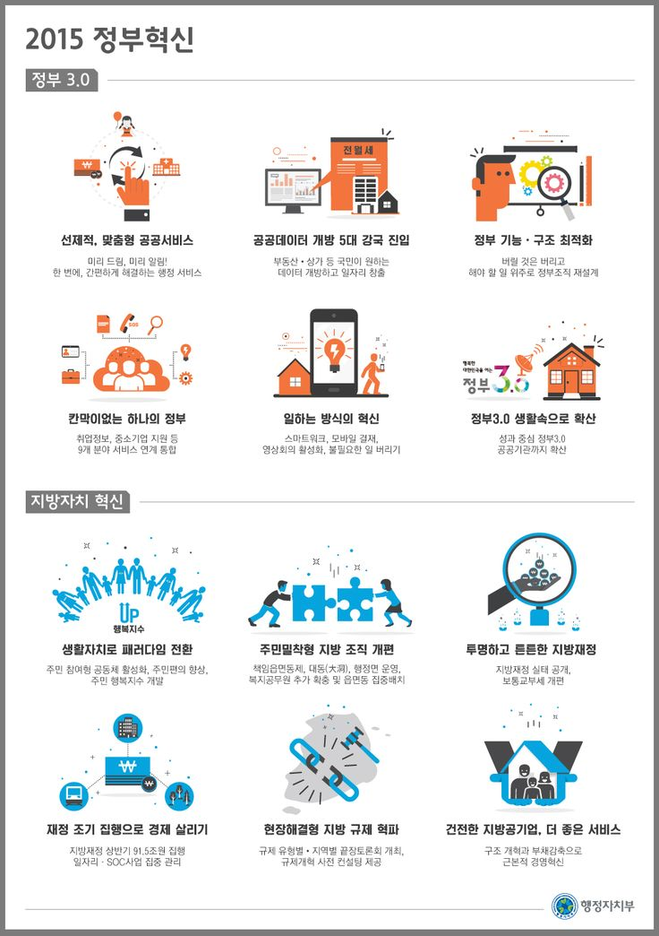 행정자치부 2015년 업무보고에 관한 인포그래픽