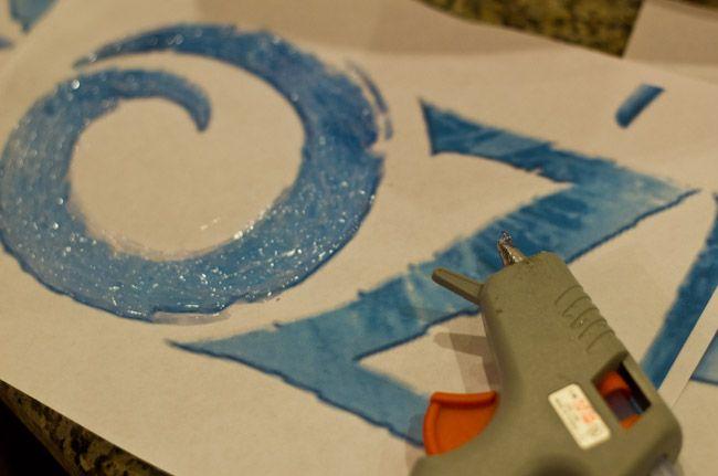 FROZEN logo letters DIY