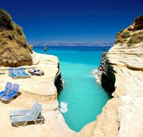 Turquoise Sea, Corfu Island, Greece photo via doug