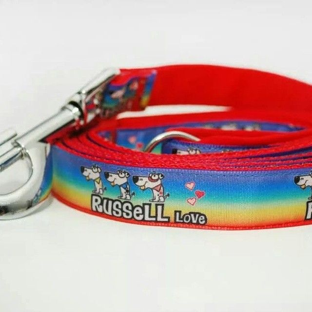 "Vodítko Blackberry ""Russell Love""   Leash by Blackberry "" Russell Love"" #jrt #russell #red #rainbow #leash #dog #design #voditko #blackberry"