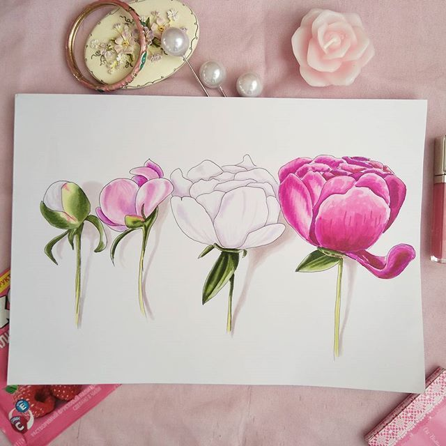 #peony #flower #sketch #tatoo