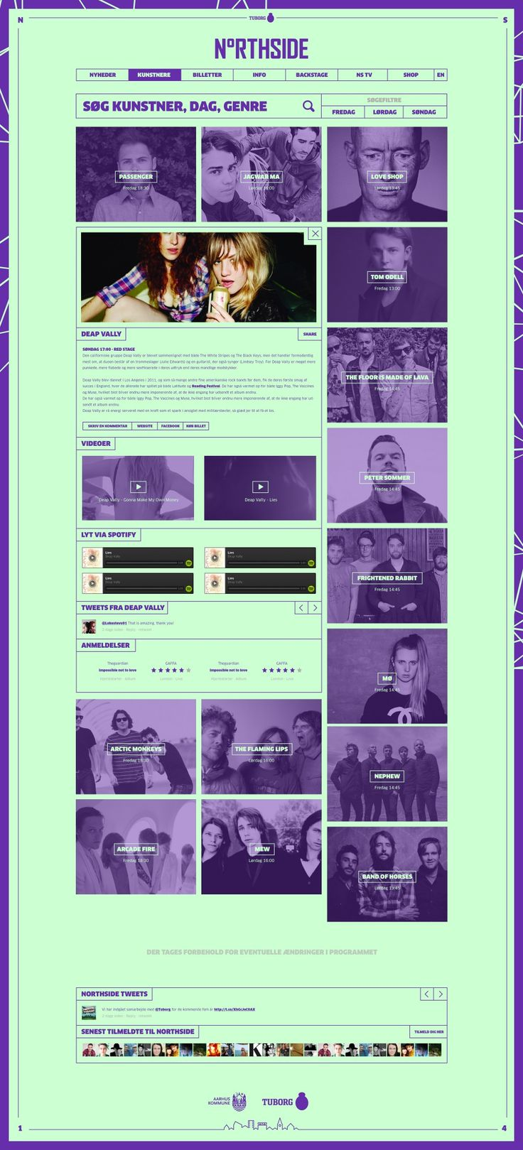 Amazing color use on this site - Northside 2014 – Music Festival | Designer: Morten Lybech