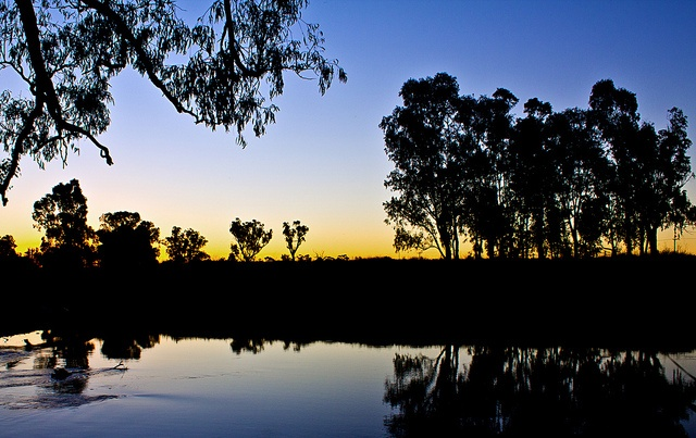 A lovely crisp and cold twilight overlooking Bullawa Creek, just near Narrabri in NSW.