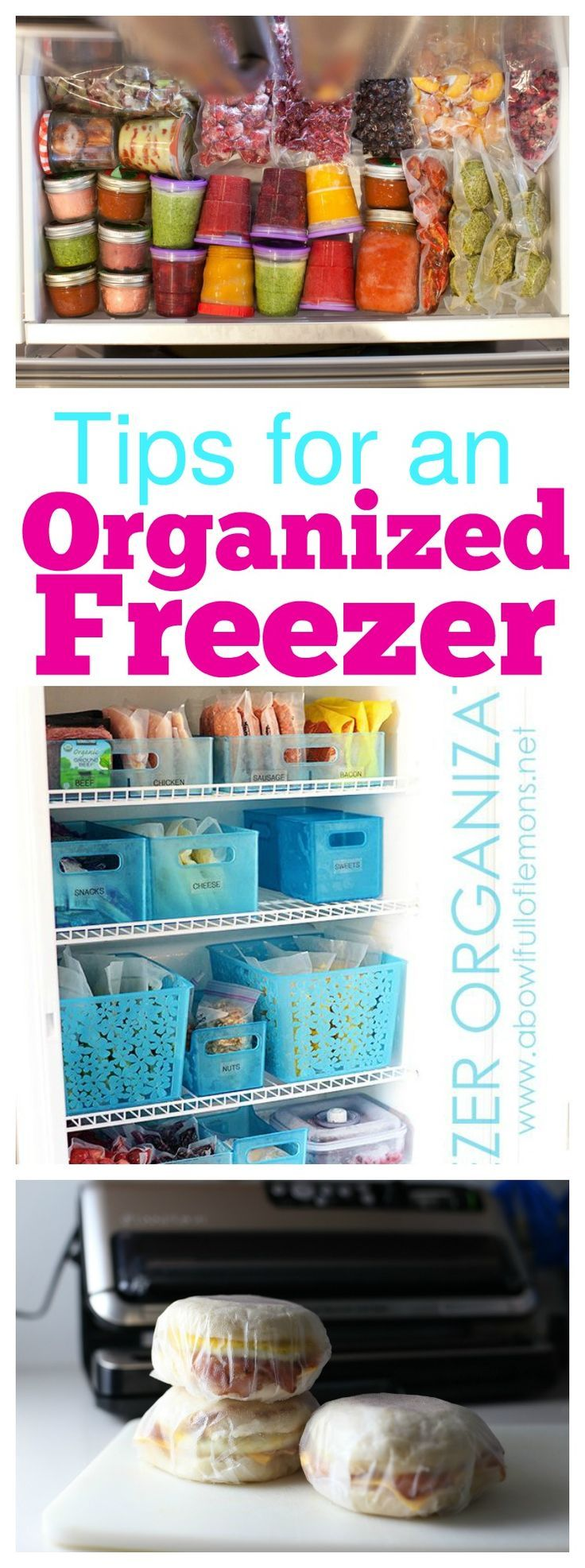 Tips For an Organized Freezer - tips and products you need to have the perfectly organized freezer that you've always dreamed of!