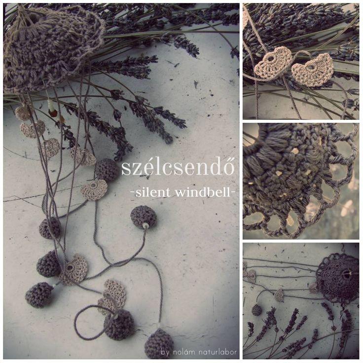 #silent windbell, fragrance, luminous, crochet, home decor, natural, organic, eco