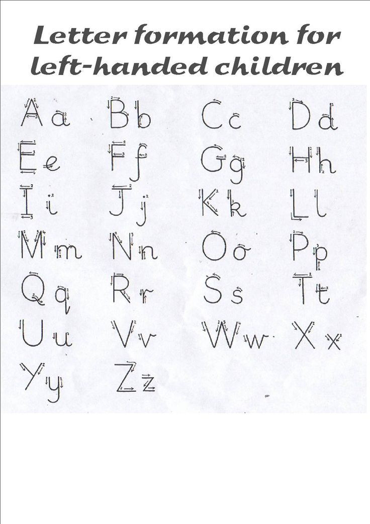 Free printable handwriting worksheets for left handers