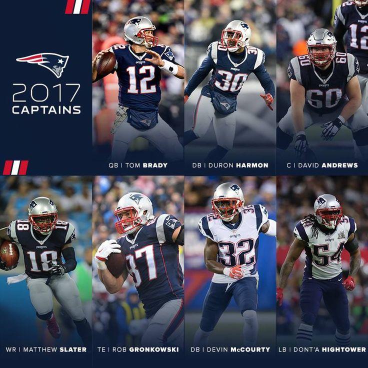 Your 2017 Team Captains!! Congrats guys!! GO PATS!!🏈