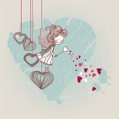 Cupido de San Valentin para imprimir