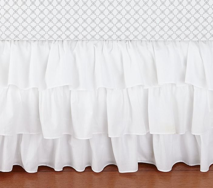 Pottery Barn Kids White Ruffle Crib Skirt #PotteryBarnKids