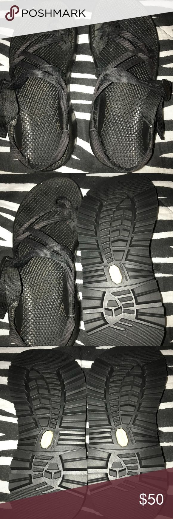 CHACOS- ladies, size 9 Black Z2 ladies Chacos, size 9- bought them online but they are too big. The toe straps are frayed but still have a lot of life in them. The bottoms are like new. Chaco Shoes Sandals