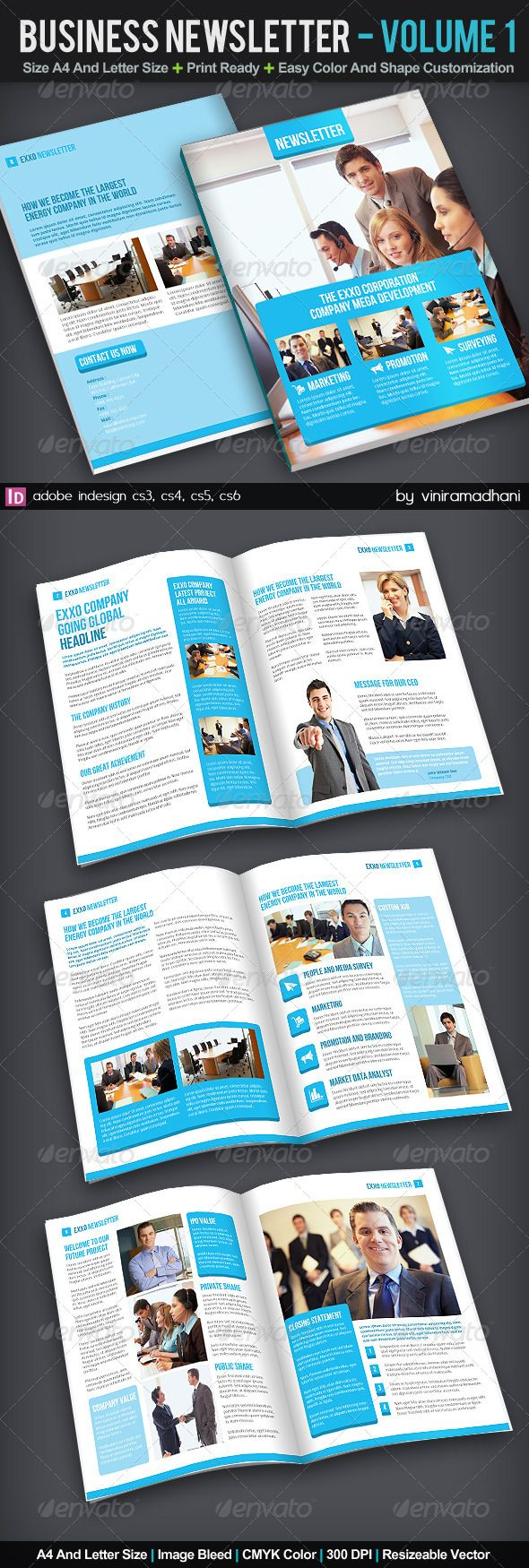 Business Newsletter | Volume 1 - Newsletters Print Templates Download here : https://graphicriver.net/item/business-newsletter-volume-1/6098666?s_rank=306&ref=Al-fatih