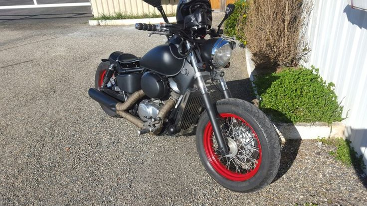 Bobber honda shadow 750 vt 98 moto pinterest honda for Carbone honda bennington vt