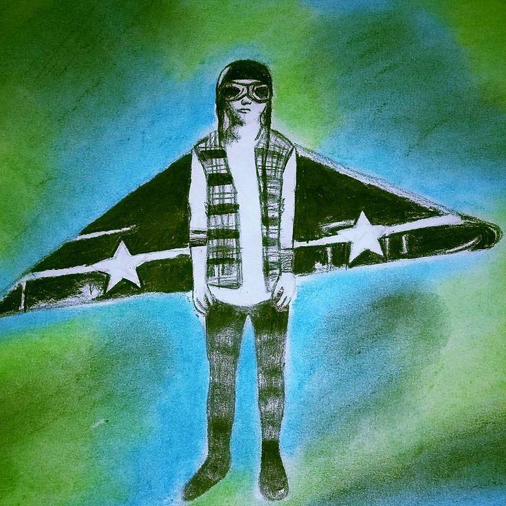 """Airplanes. .. #sketch #cool #artist #soundsgoodfeelsgood #song #fanart #airplanes #5sosfam #5sos #drawing"""