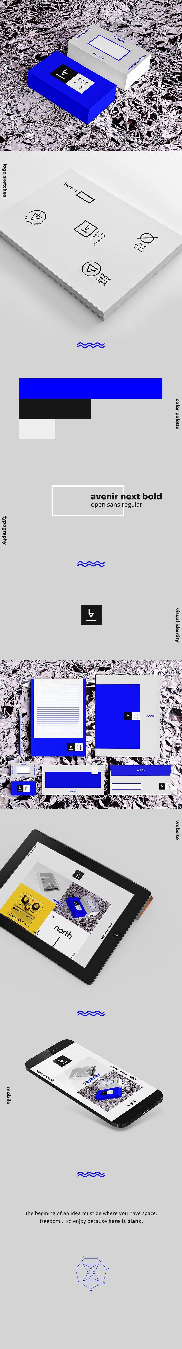 here is blank * visual identity by Felipe Elioenay