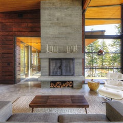 modern living room by Uptic Studios