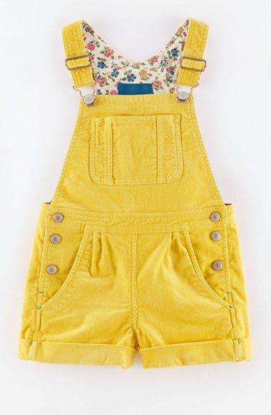 Mini Boden Overall Shorts (Toddler Girls, Little Girls & Big Girls)