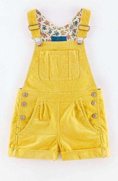 darling little girls yellow overalls